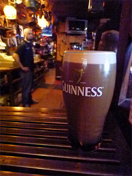 A pint of Guiness always tastes better in an Irish pub.