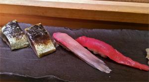 Mackerel, Yellow Tail, Tuna at Midori Sushi