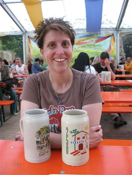 Collecting beer steins are a key component of German Beer festival culture.