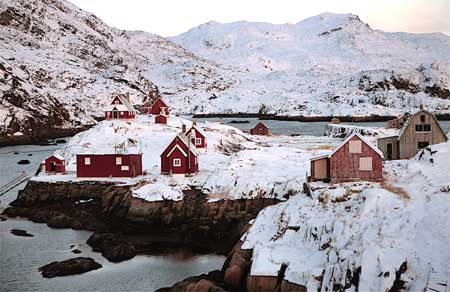 The abandoned village of Assaquataq was once home to fishermen, now it is only used during the summer as a camp.