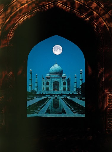 Taj Mahal full moon, Agra, India