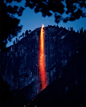 Yosemite National Park Fire Fallls