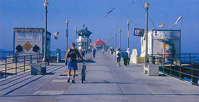 Huntington Pier in southern California is the longest concrete municipal pier in the state.