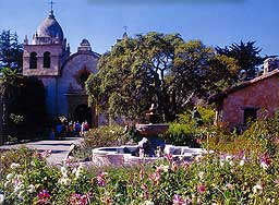 Mission San Carlos Borromeo de Carmelo in central California. Photo by Neil Sutherland.