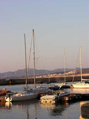 Boats in Chania Harbor