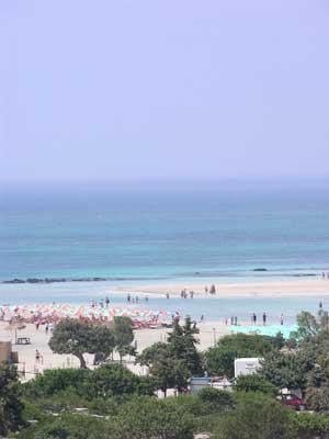 The beach at Elafonisi