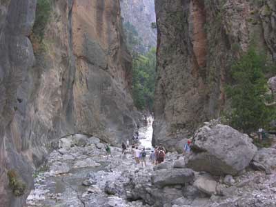 The gorge at Samaria