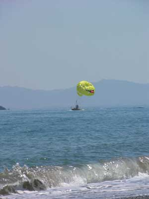 A parasail at Platanias