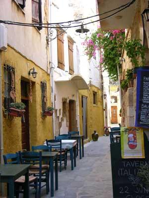 Street scene in Chania