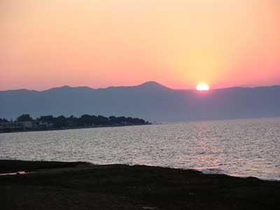 Sunset at Platanias
