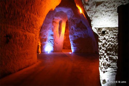 Champagne cave in Rheims, France. Kent St. John photo.