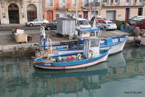 Fishing boats in Sette.