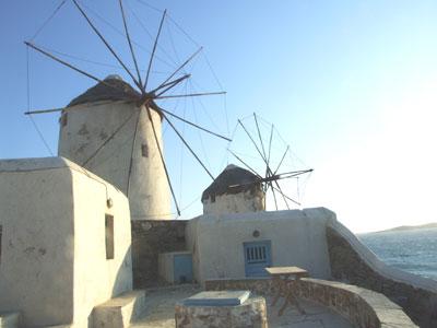 Windmills in the Greek Islands