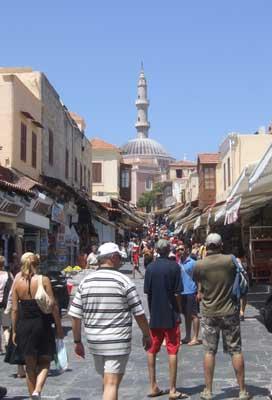 The main street in Rhodes