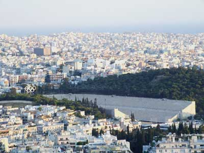 The Olympic Stadium in Athens
