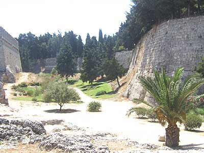Ancient castle complex in Rhodes