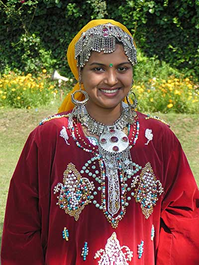 A young woman in Srinigar