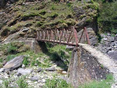 The bridge to the roadhead -- Back to reality!