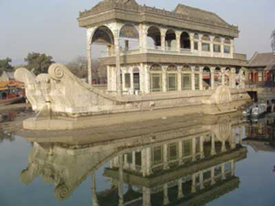 Stone boat at the Emperor's Summer Palace, Beijing, China