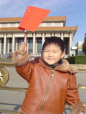 Patriotism from a little Chinese boy