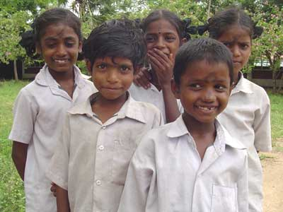 School Children at the Delta Dalit Center, Southern India