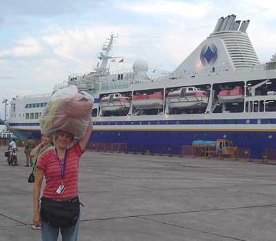 M/V Explorer docked in Chennai, India