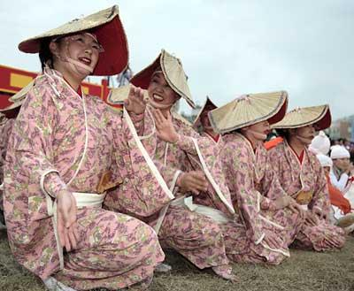Dancers at the Tainan Lantern Festival