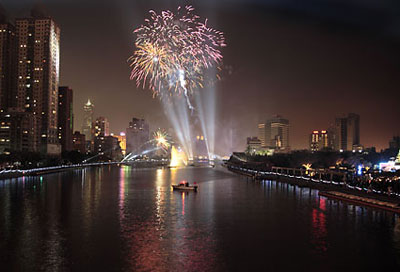 Fireworks on the Love River