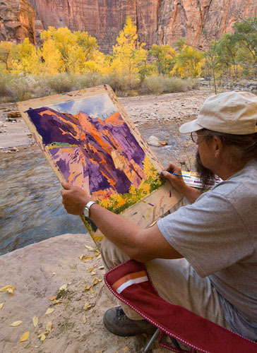 Watercolorist Buffalo Kaplinksi