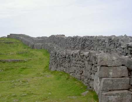 A rampart at Dun Aenghus