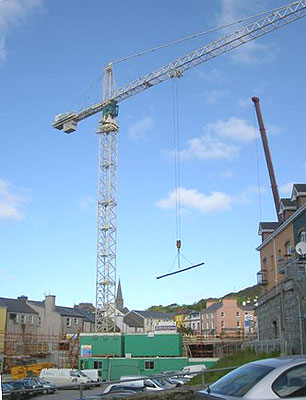 Ireland is enjoying a contruction boom all across the country.
