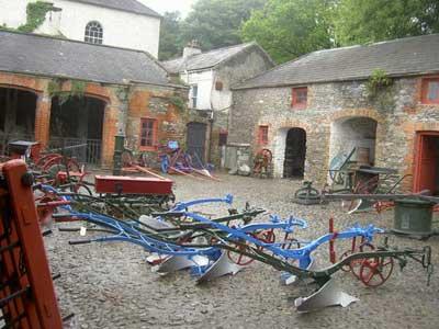 Farm equipment in Bunratty Folk Park