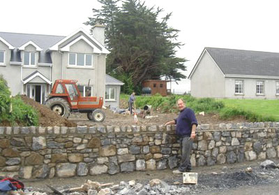 A mason at work in County Clare