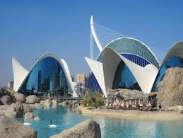 A glimpse of the beautiful Valencian architecture at the Oceanografic