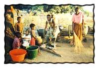 In the Kawaza village.Courtesy of Dr. Cheryl Mvula