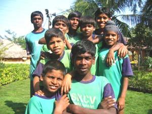 Boys in the community village