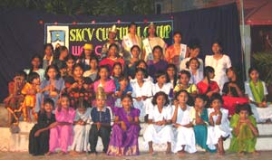 Fashion show at the girls' centre
