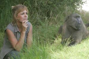 Jenni Trethowan is working to protect baboons like her friend Quizzie. Photo by Jenni Trethowan