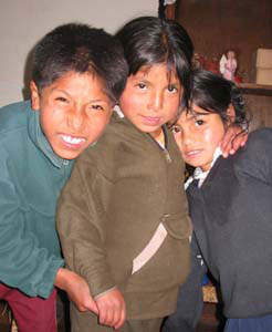 Children at the House of the People of the Sun in Cuzco, Peru