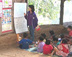 Teaching kindergarteners
