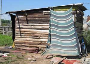 A typical shanty house in 24 de enero