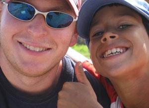 The author with Richard Gonzalez Jr.