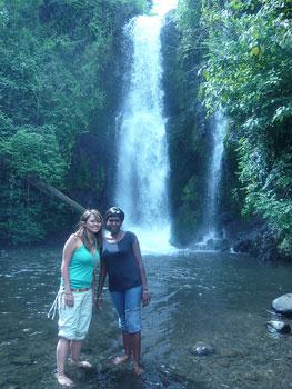 With Naomi at the Marangu Waterfalls