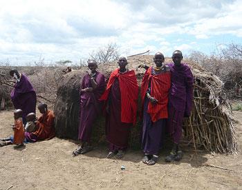 Masai women in their village