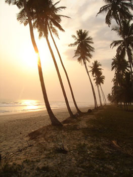The beach in Asaafa, Ghana
