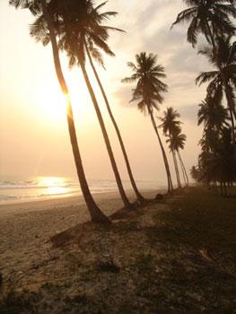The beach in Asaafa, Ghana