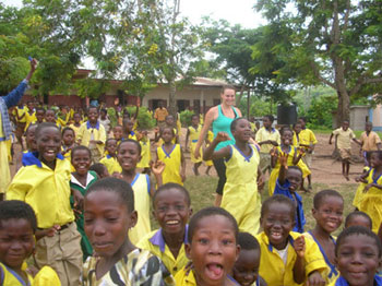 Children from the Asaafa School in Ghana