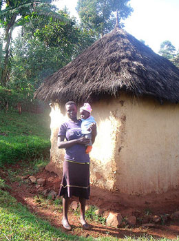 A teenage mother who is seeking for help from AID Kenya Foundation. She has enrolled in the Vocational Training Program where she will train to become a tailor. She has also asked the Foundation to help care for the baby until she stabilizes and becomes self reliant.