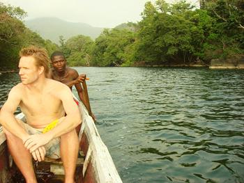 Tribewanted co-founder Ben Keene in Sierra Leone.