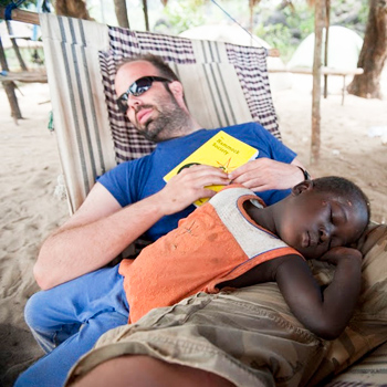 In addition to volunteering, tribemembers can relax in a hammock by the beach.